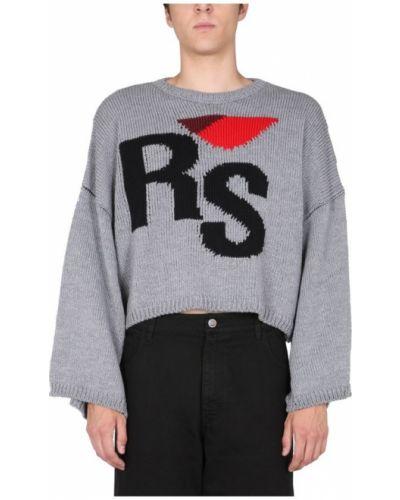 Szary sweter Raf Simons