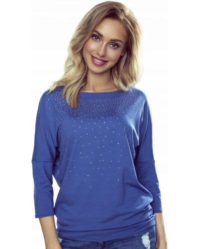 Niebieska bluzka z wiskozy Eldar