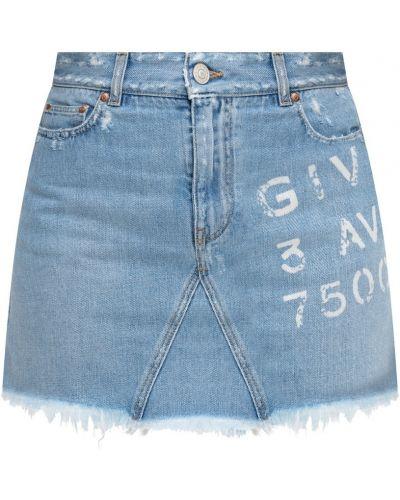 Klasyczna spódnica jeansowa zapinane na guziki Givenchy