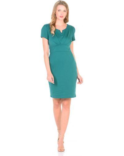 С рукавами трикотажное модное платье мини Rosa Blanco