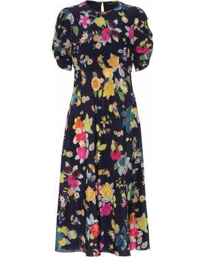 Платье миди с цветочным принтом на тонких бретелях Etro
