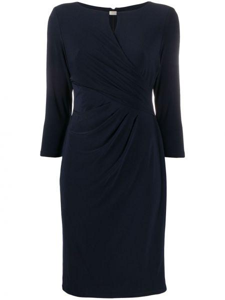 С рукавами фиолетовое приталенное платье Lauren Ralph Lauren