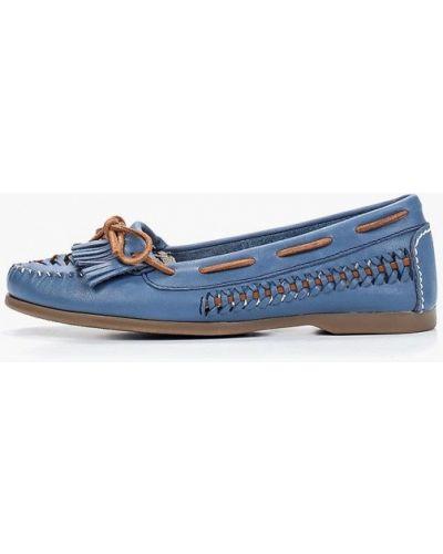 Мокасины кожаные синий Dali