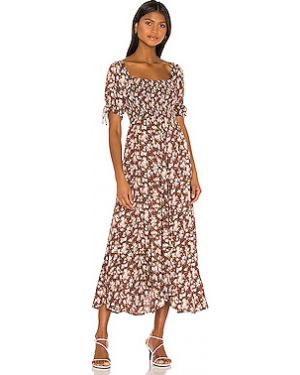 Платье миди на молнии шелковое Auguste