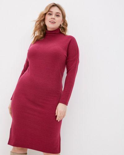 Вязаное трикотажное розовое платье Base Forms
