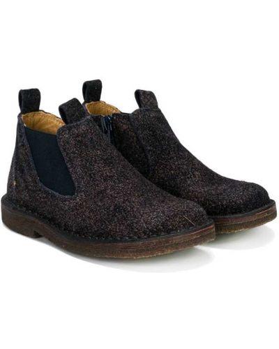 Ботинки черные синие Pèpè
