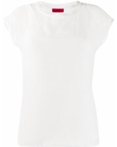 Прямая с рукавами белая футболка Boss Hugo Boss