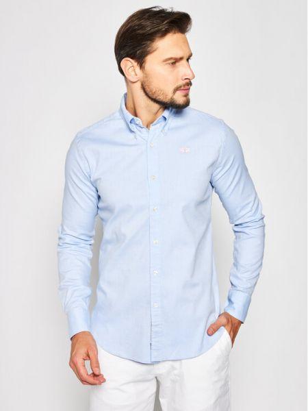 Niebieska koszula slim La Martina