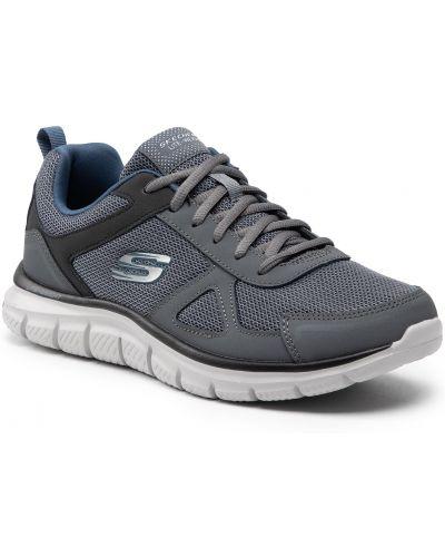 Buty sportowe skorzane - szare Skechers
