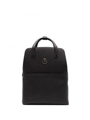 Czarny plecak skórzany Stefano Ricci