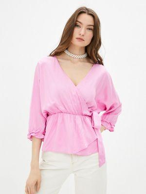 Розовая блузка с бантом Code