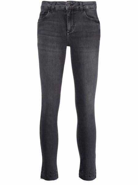 Джинсовые зауженные джинсы - серые Liu Jo
