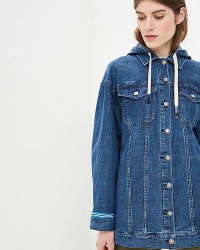 Джинсовая куртка весенняя синий United Colors Of Benetton