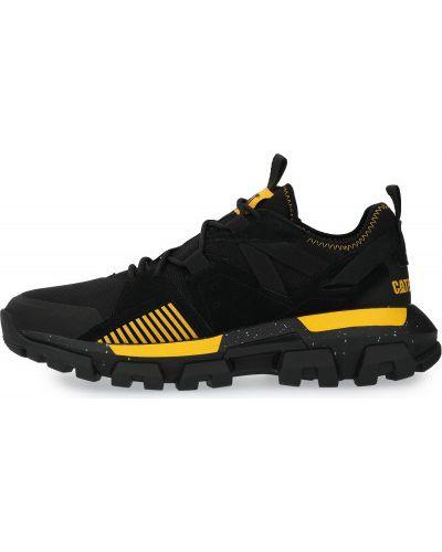 Черные кожаные полуботинки на шнуровке Caterpillar