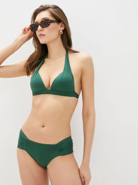 Зеленый купальник с пуш-ап Calzedonia