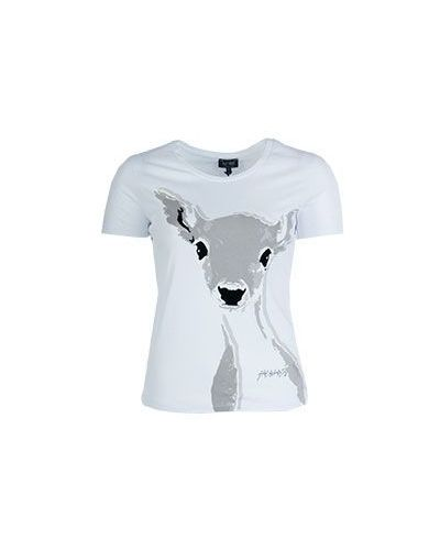 Белая футболка хлопковая Armani Jeans