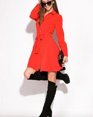Платье с поясом на торжество приталенное Time Of Style