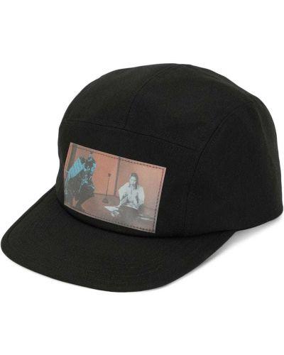 Czarna czapka z haftem bawełniana Undercover