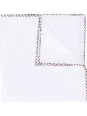 Платок белый в полоску Brunello Cucinelli