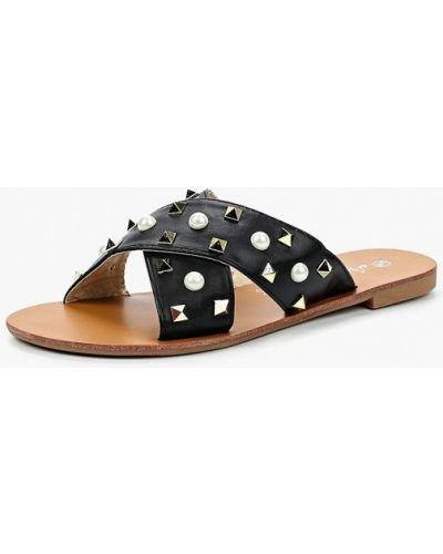 Черное сабо кожаные Style Shoes