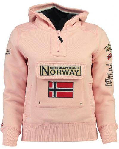 Розовая повседневная толстовка Geographical Norway