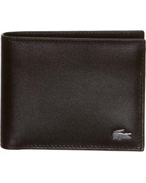 Кожаный портмоне - черный Lacoste