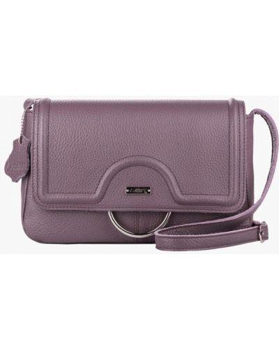 Кожаная сумка через плечо фиолетовый L-craft
