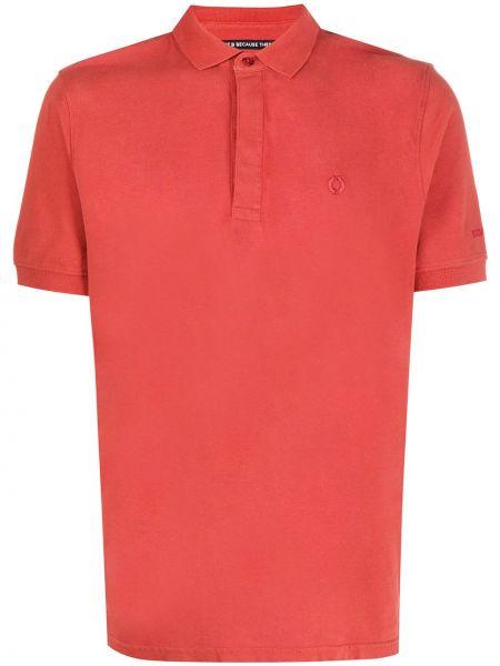 Прямая рубашка с короткими рукавами с воротником с вышивкой на пуговицах Ecoalf