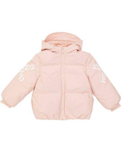Стеганая куртка - розовая Kenzo Kids