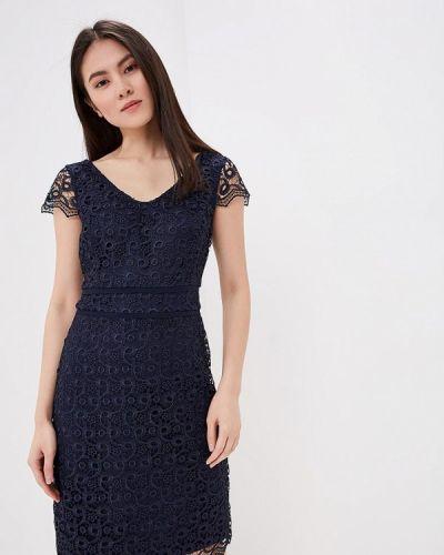 Вечернее платье весеннее синее S.oliver