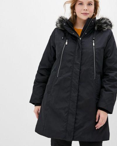 Теплая черная утепленная куртка Ulla Popken