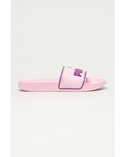 Różowe sandały na obcasie Puma