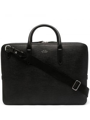 Czarna torba skórzana Smythson