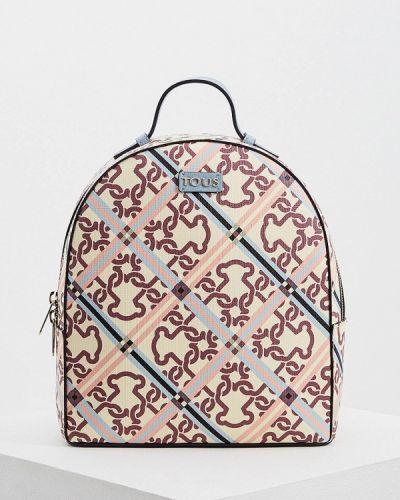 Рюкзак бежевый из искусственной кожи Tous