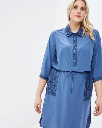 Повседневное платье весеннее голубой Kr
