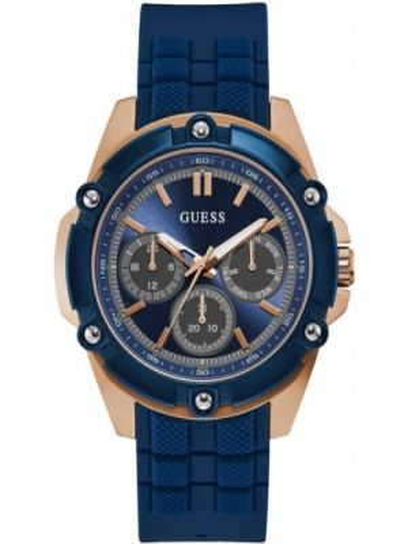 Czarny złoty zegarek Guess