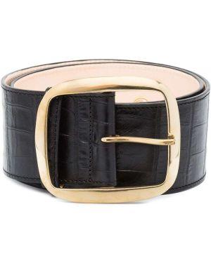 Ремень черный кожаный Black & Brown