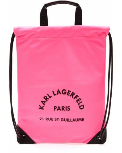 Кожаный рюкзак рюкзак-мешок на молнии Karl Lagerfeld