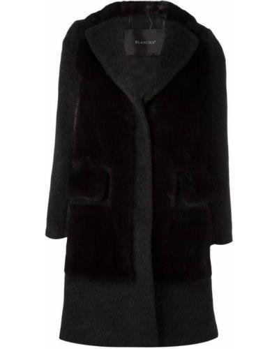 Шерстяное пальто с капюшоном Blancha