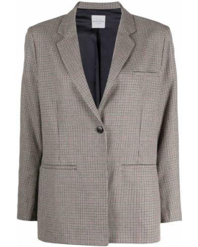 Шерстяной серый классический пиджак на пуговицах Roseanna
