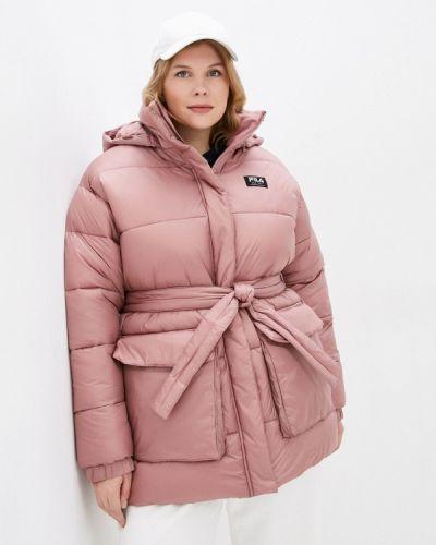 Утепленная куртка - розовая Fila