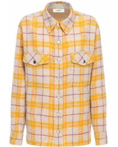 Шерстяная желтая куртка с карманами Isabel Marant étoile