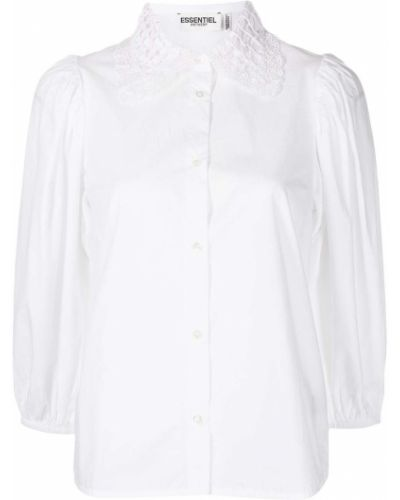 Хлопковая рубашка - белая Essentiel Antwerp