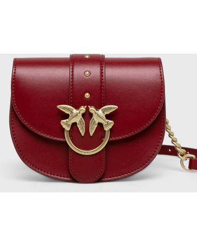Маленькая сумка кожаная красная Pinko