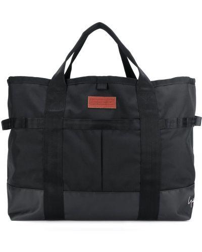 Czarna torba na ramię z nylonu Yohji Yamamoto