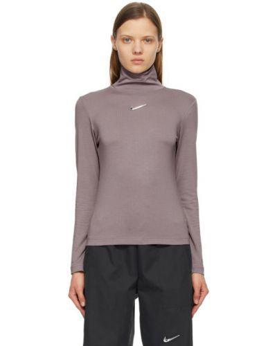 Fioletowy golf z długimi rękawami srebrny Nike