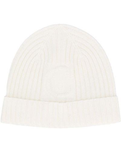 Prążkowany biały kapelusz wełniany Chloé Kids