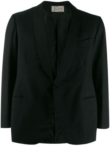 Прямой черный удлиненный пиджак на пуговицах A.n.g.e.l.o. Vintage Cult