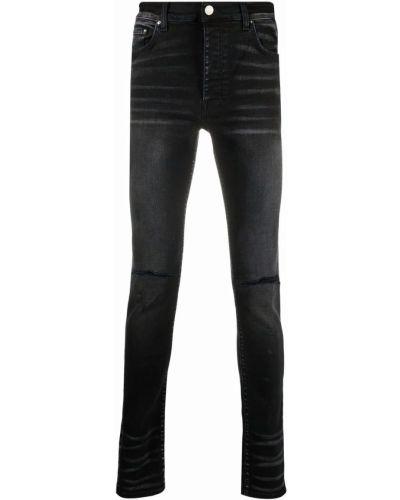 Облегающие зауженные джинсы - черные Amiri