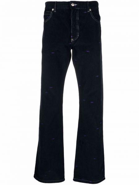Niebieskie spodnie z paskiem Phipps